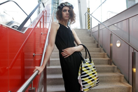 Triangle Bag, in Yellow Zebra Print